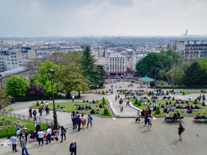 View of Paris from Sacré Coeur Basilica