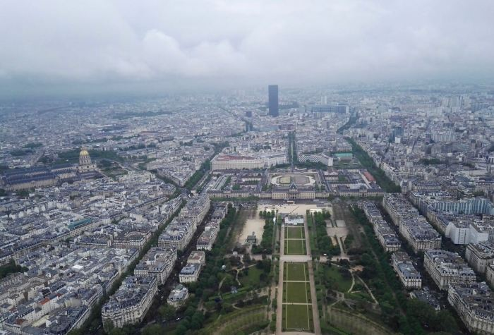 Champ de Mars, Montparnasse Tower and Invalides