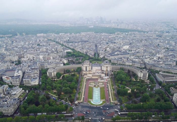View of Place du Trocadéro from Eiffel Tower, Paris