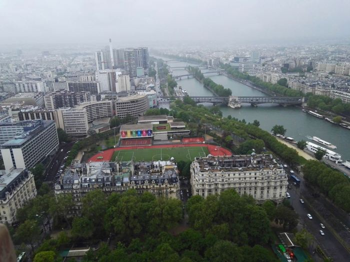 View of Seine River from Eiffel Tower, Paris
