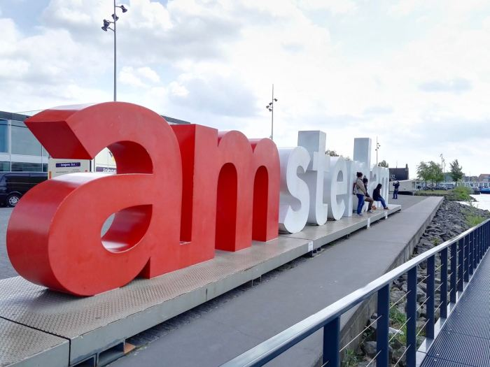 I amsterdam letters near A'DAM Lookout
