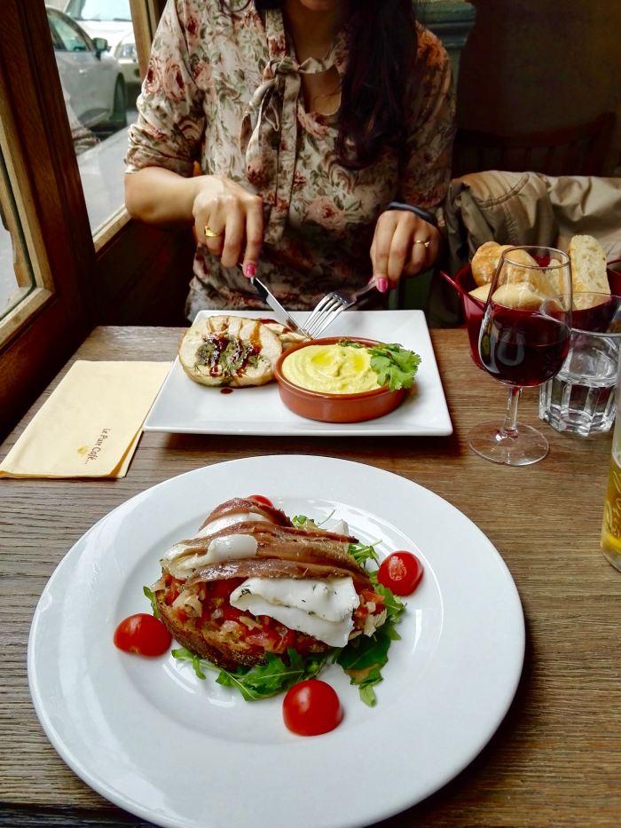 Food at Le Pure Café, Paris