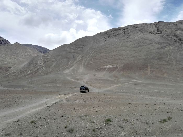 Magnetic Hill in Ladakh, India