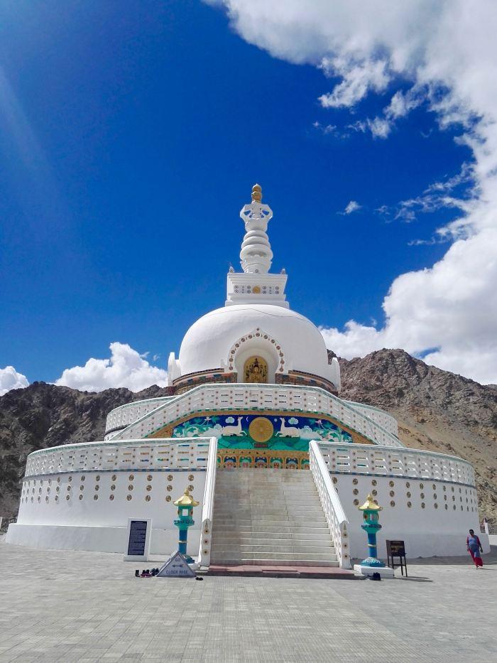 Shanti Stupa in Leh, India