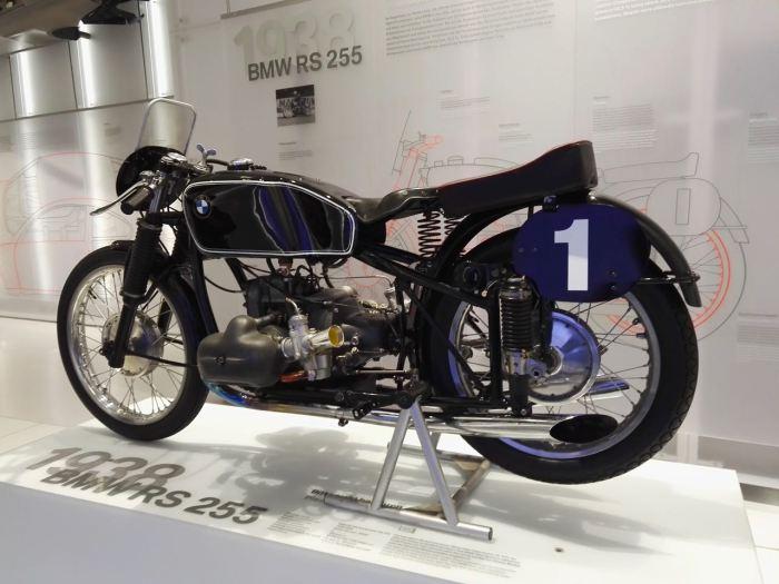 Vintage BMW RS 255 racing motorcycle