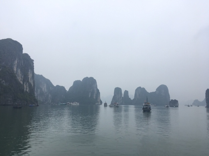 Ha Long Bay rock formations