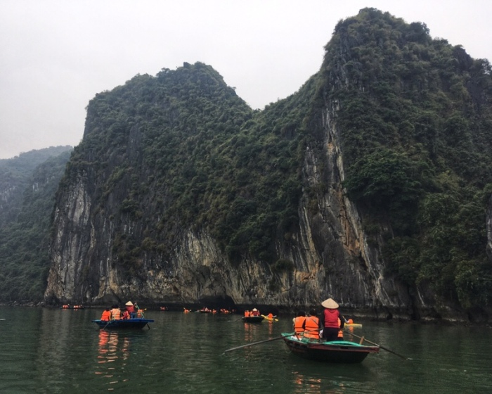 Boating at Ha Long Bay