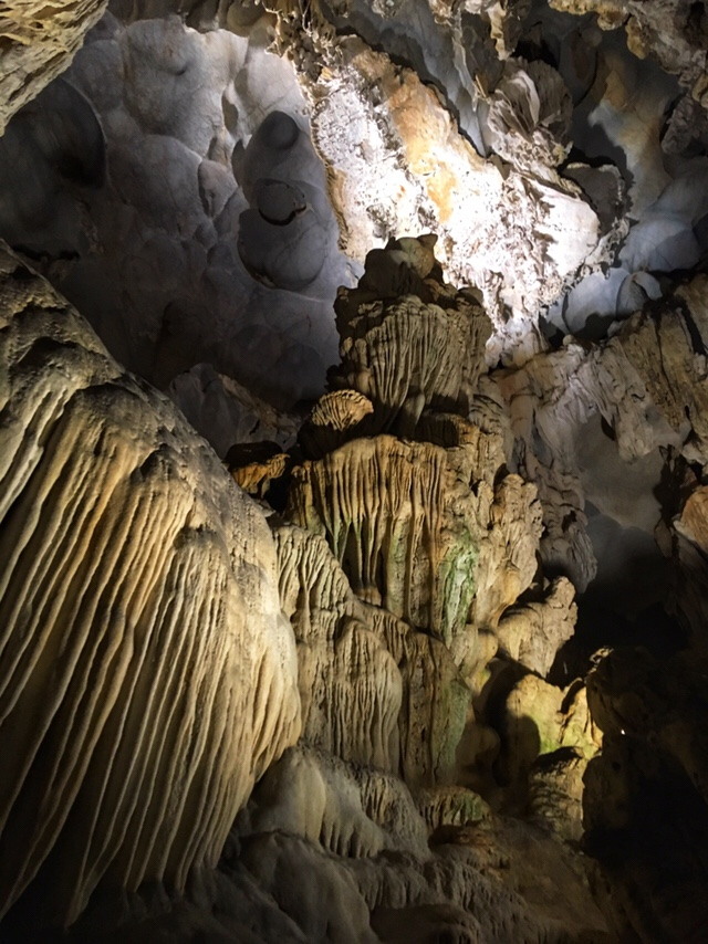 More stalactite and stalagmite formations