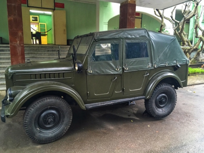 Military jeep outside D67