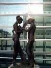 Evocative sculpture in Tokyo, Japan