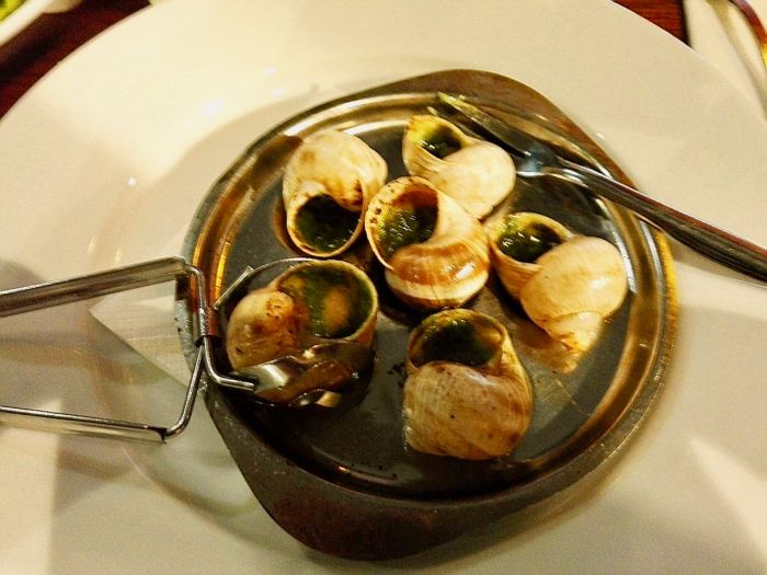 Escargot - cooked land snails - a French delicacy