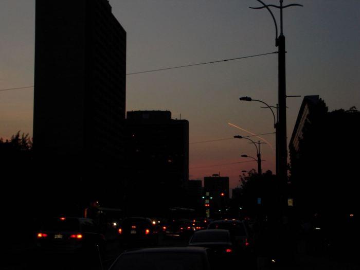 Evening sky in Toronto, Canada