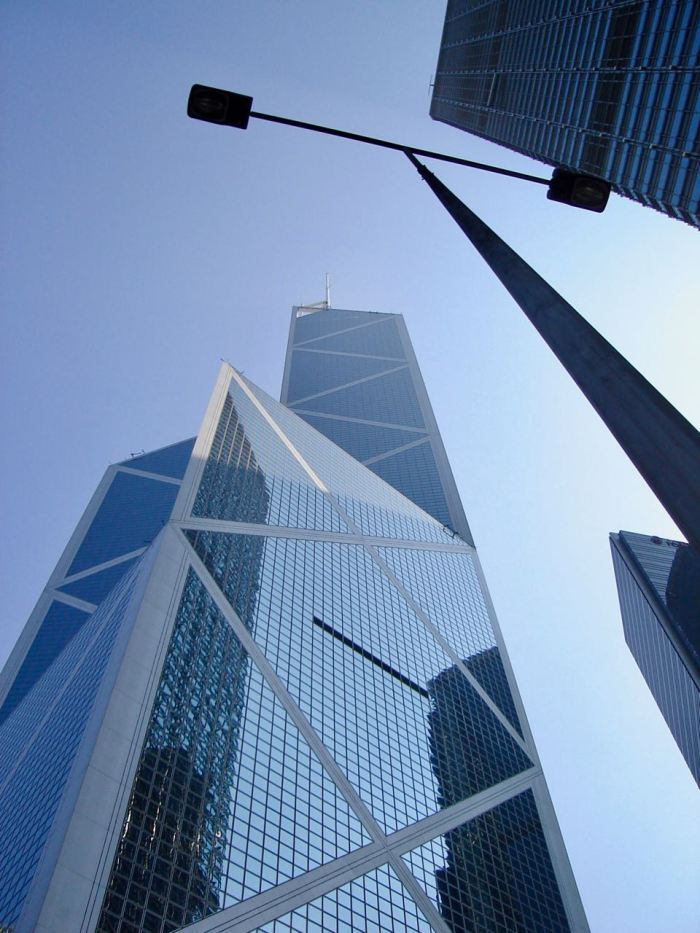 Bank of China Tower in Hong Kong. November 2006, Sony Cybershot DSC-S40