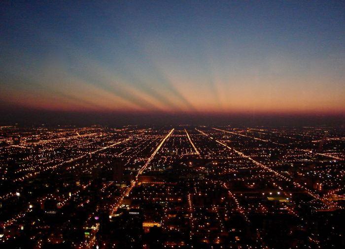 Chicago city lights seen from John Hancock Center. September 2006, Sony Cybershot DSC-S40