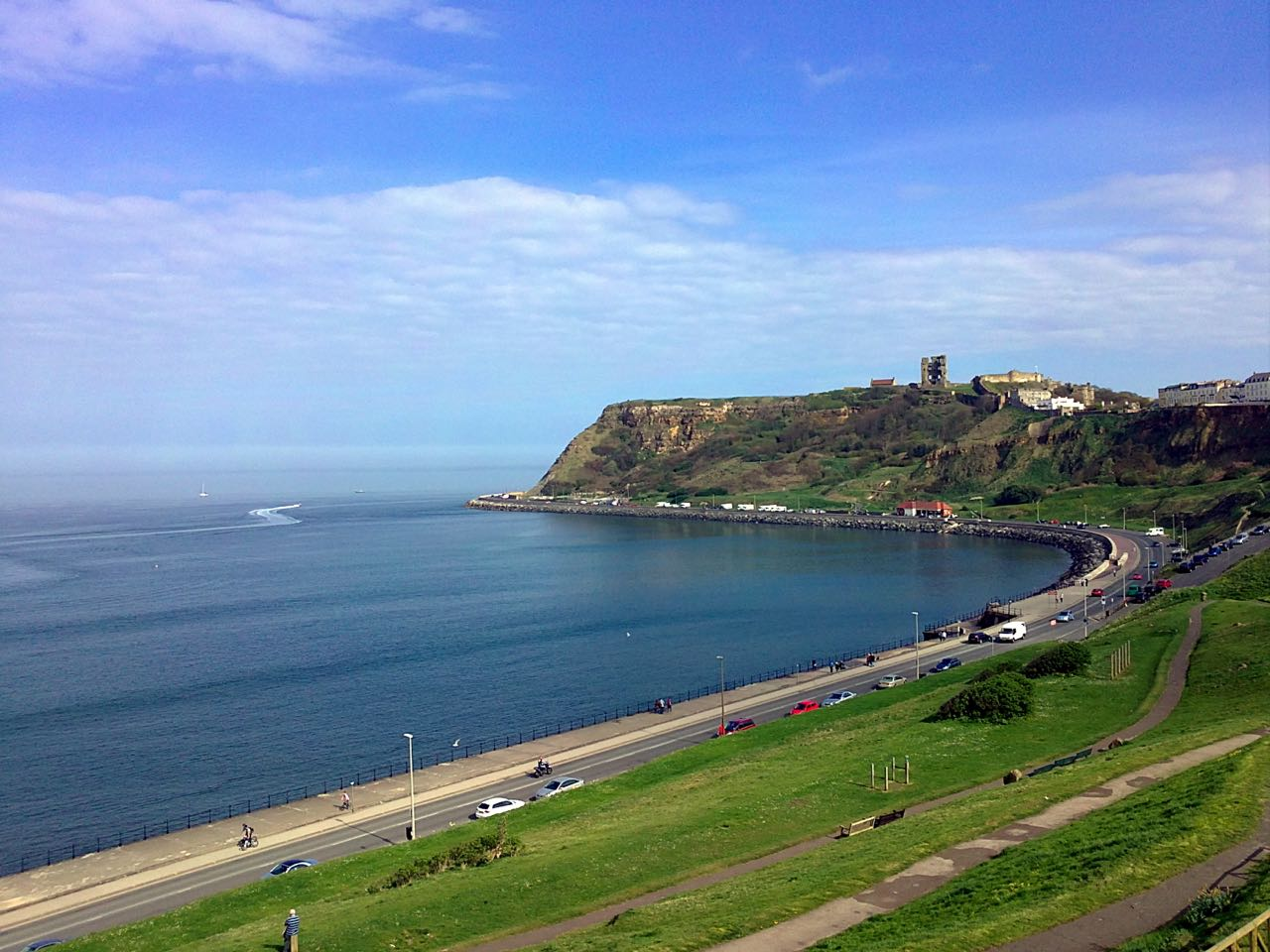 Coastline in Scarborough, UK. April 2011, Sony Ericsson Vivaz U5i