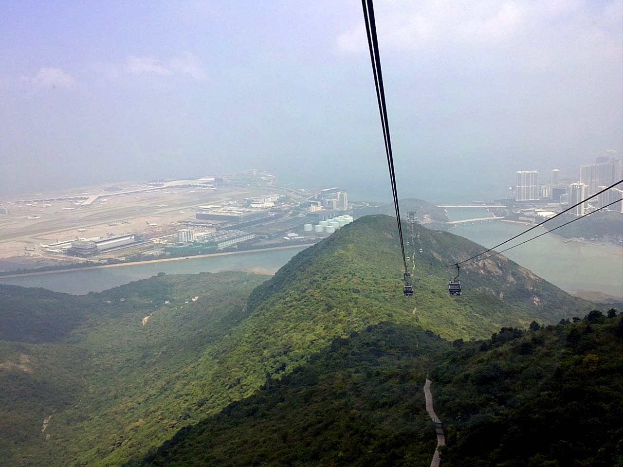 View from Lantau Cable Car in Hong Kong. October 2010, Sony Ericsson Vivaz U5i